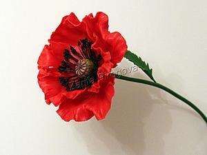 Создаем цветок красного мака из самозатвердевающей полимерной глины. Ярмарка Мастеров - ручная работа, handmade.