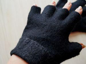 Открыт ограниченный набор заказов по льготной цене на мужские валяные перчатки и митенки. Ярмарка Мастеров - ручная работа, handmade.