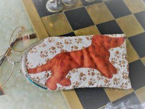 Шьем очечник с аппликацией на фермуаре. Ярмарка Мастеров - ручная работа, handmade.