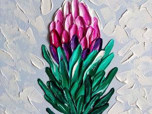 Рисуем экзотический цветок Протею. Ярмарка Мастеров - ручная работа, handmade.