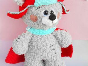 Superhero Teddy Bear crochet pattern. Ярмарка Мастеров - ручная работа, handmade.