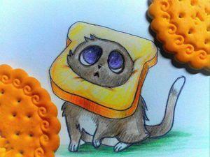 Как нарисовать цветными карандашами озорного котёнка. Ярмарка Мастеров - ручная работа, handmade.