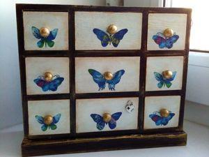 Создаем винтажную шкатулку «Комод с бабочками». Ярмарка Мастеров - ручная работа, handmade.