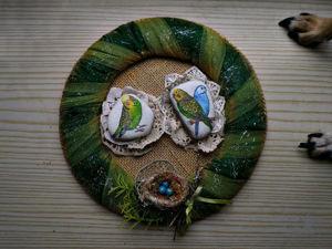 Мастерим панно «Птицы на камнях». Ярмарка Мастеров - ручная работа, handmade.