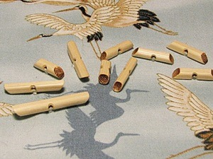 Мастерим экопуговицы из бамбуковых палочек. Ярмарка Мастеров - ручная работа, handmade.