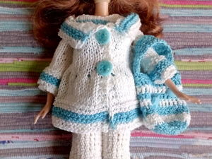 Комплект одежды для кукол  Барби  «Морская прогулка». Ярмарка Мастеров - ручная работа, handmade.