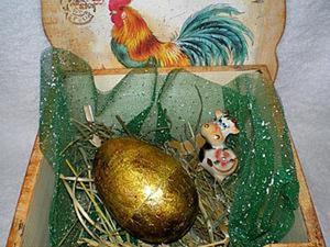 """Мастер-класс: """"Золотое пасхальное яичко"""". Ярмарка Мастеров - ручная работа, handmade."""