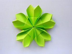 Мастерим простой цветок из бумаги. Оригами поделки для начинающих. Ярмарка Мастеров - ручная работа, handmade.