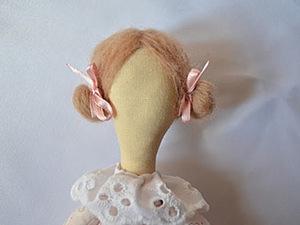 МК прическа для куклы из шерсти. Ярмарка Мастеров - ручная работа, handmade.