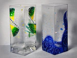 Как расписать стеклянную вазу своими руками. Ярмарка Мастеров - ручная работа, handmade.