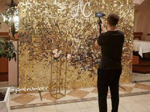 Видео со свадьбы (фотозона Золото — пайетки). Ярмарка Мастеров - ручная работа, handmade.