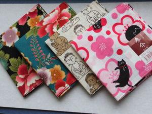 Японские Платочки Оригинал Айтоки Пион Сакура Будда Глициния. Ярмарка Мастеров - ручная работа, handmade.