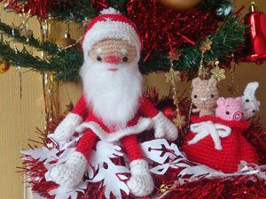 Мастер-класс: вязаный Дедушка Мороз под новогоднюю ёлку. Ярмарка Мастеров - ручная работа, handmade.