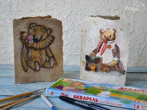 Расписываем акварелью авторский паспорт для мишки. Ярмарка Мастеров - ручная работа, handmade.