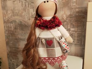 Интерьерная кукла: Тилъда на прогулке. Ярмарка Мастеров - ручная работа, handmade.