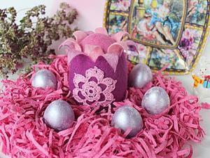 Мастер-класс: сувенирное яйцо из войлока к Пасхе. Ярмарка Мастеров - ручная работа, handmade.