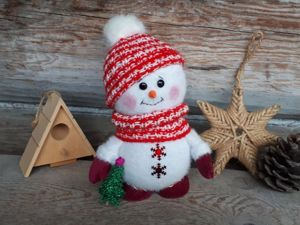 Делаем снеговика. Ярмарка Мастеров - ручная работа, handmade.