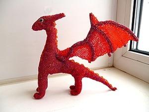 Плетем красного дракона из бисера. Ярмарка Мастеров - ручная работа, handmade.