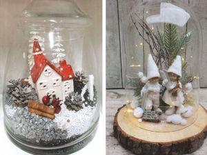 Новогодние композиции в стеклянных кашпо и флорариумах. Ярмарка Мастеров - ручная работа, handmade.