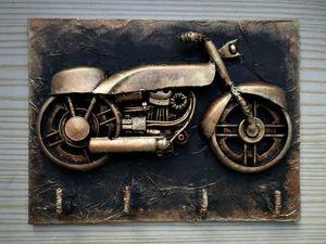Мастерим ключницу из хлама «Мотоцикл». Ярмарка Мастеров - ручная работа, handmade.