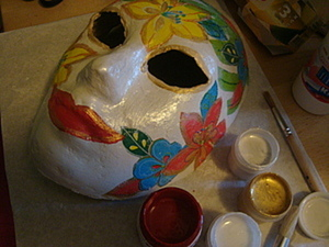 Делаем с детьми - карнавальная маска из папье-маше. Ярмарка Мастеров - ручная работа, handmade.