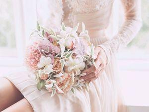 Букет невесты из фоамирана. Ярмарка Мастеров - ручная работа, handmade.