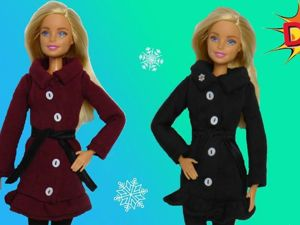 Как сшить пальто для кукол Барби своими руками. Ярмарка Мастеров - ручная работа, handmade.