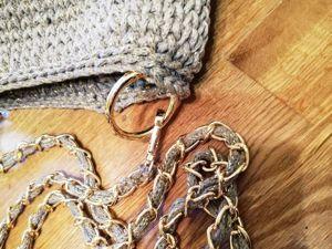 Изготовление сумочки из хлопкового шнура. Ярмарка Мастеров - ручная работа, handmade.