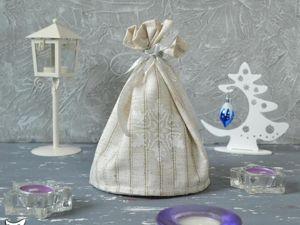 Шьем новогодний мешочек для подарка своими руками. Ярмарка Мастеров - ручная работа, handmade.