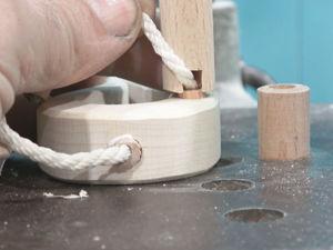 Лайфхак: делаем шкант со шнурком в деревянную деталь. Ярмарка Мастеров - ручная работа, handmade.