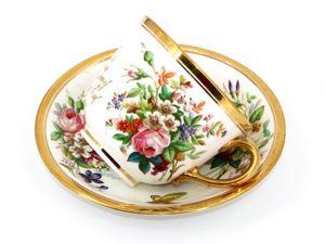 Большой, коллекционный бокал (чайная пара).  «Davenport» , Англия. 1878 год. Ярмарка Мастеров - ручная работа, handmade.