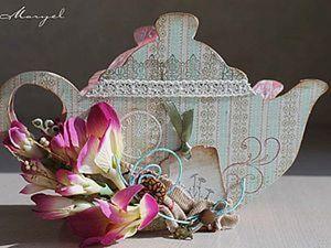 Чайник для чайных пакетиков или салфетница. Ярмарка Мастеров - ручная работа, handmade.
