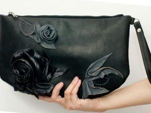 Мастер-класс по пошиву черного клатча. Ярмарка Мастеров - ручная работа, handmade.