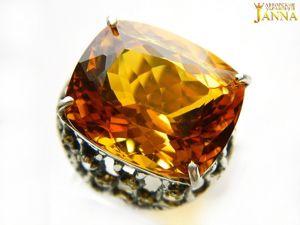 Цитрин.  «Испанский топаз»  кольцо с цитрином. Ярмарка Мастеров - ручная работа, handmade.