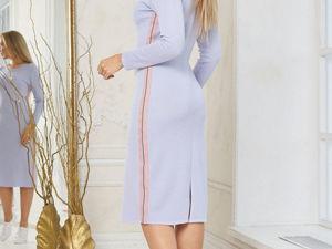 Аукцион на Вязаное платье в спортивном стиле! Старт 2500 р.!. Ярмарка Мастеров - ручная работа, handmade.