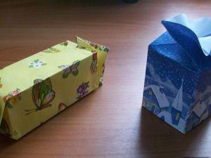 Подарочные коробочки-конфетки из бумаги. Ярмарка Мастеров - ручная работа, handmade.