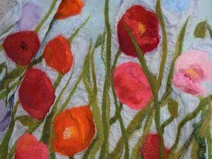 Палантин  «Разноцветные маки». Ярмарка Мастеров - ручная работа, handmade.