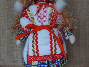 Шьем куколку в мордовском национальном костюме. Ярмарка Мастеров - ручная работа, handmade.