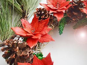 Видео мастер-класс: Пуансеттия (рождественская звезда) из фоамирана. Ярмарка Мастеров - ручная работа, handmade.