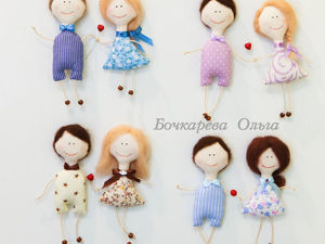 How to Make Textile Magnets, or Sewing a Couple of Lovebird Dolls. Livemaster - handmade