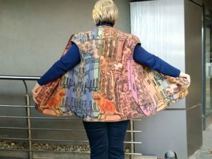 54-56-58-60р-р.Валяный жилет «Городок». Ярмарка Мастеров - ручная работа, handmade.