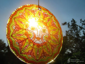 Создаём витражное «Солнышко» — символ Масленицы. Ярмарка Мастеров - ручная работа, handmade.