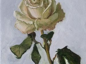 Как нарисовать розу поэтапно. Живопись маслом. Ярмарка Мастеров - ручная работа, handmade.