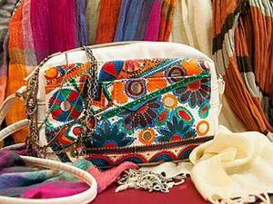 Роспись сумки акриловыми красками в стиле бохо. Ярмарка Мастеров - ручная работа, handmade.