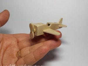 Делаем миниатюрный самолетик для игрушки. Ярмарка Мастеров - ручная работа, handmade.