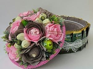 Торт-шкатулка из чая и конфет. Ярмарка Мастеров - ручная работа, handmade.