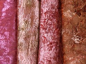 Окрашивание плюша (из розового в коричнево-золотистый). Ярмарка Мастеров - ручная работа, handmade.