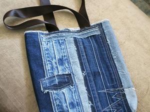Шьем летнюю сумку из джинсовых поясов. Ярмарка Мастеров - ручная работа, handmade.