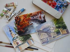 Обзор акварельной бумаги Hahnemuhle для открыток. Ярмарка Мастеров - ручная работа, handmade.
