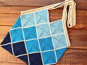 Видео мастер-класс: вяжем крючком из мотивов яркаую сумочку. Ярмарка Мастеров - ручная работа, handmade.